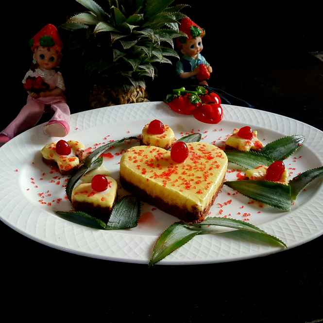 Photo of CHEESE LESS PINEAPPLE CAKE by MOUMITA DAS at BetterButter