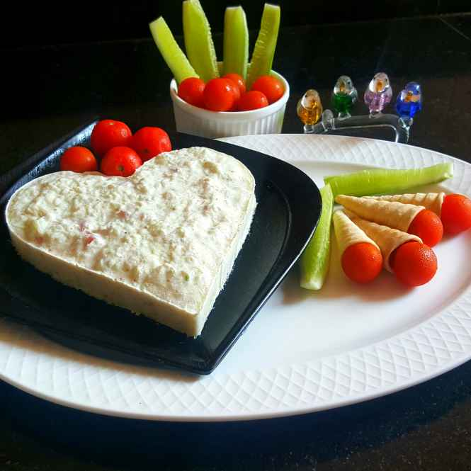 How to make CUCUMBER AND TOMATO MOUSSE SALAD