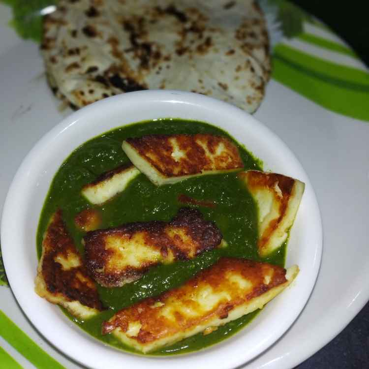 How to make Tava paneer in spinach gravy