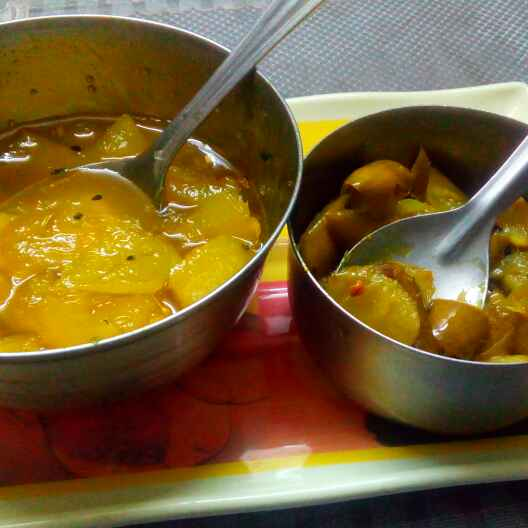 How to make Instant mango pickle (sweet & sour)