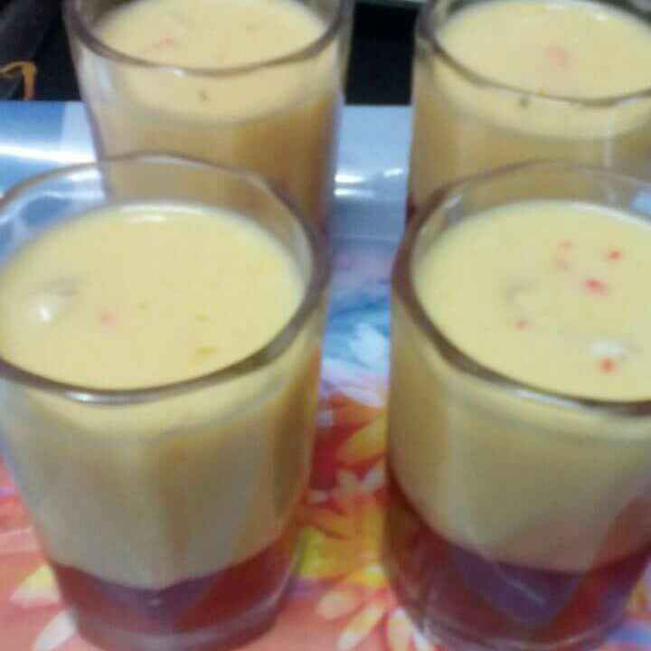 Photo of Mangoshake with strawberry jelly by Rimjhim Agarwal at BetterButter
