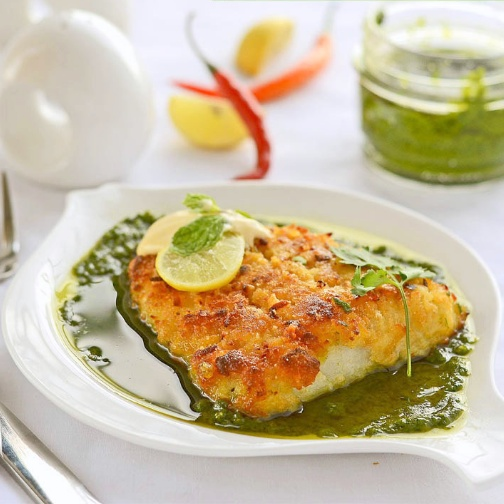 How to make Parmesan Fish with Green Pesto
