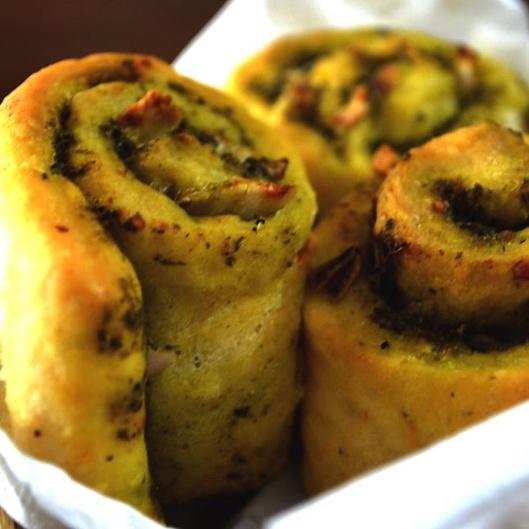 Photo of Cheesy Garlic Pesto Rolls by Rina Chakravarty at BetterButter