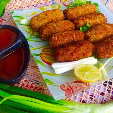 Photo of Crispy healthy green vegetables cutlets by Rina Khanchandani at BetterButter
