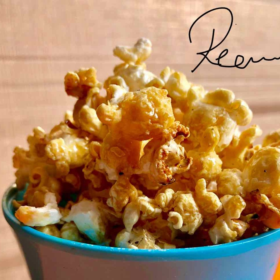 How to make Homemade Caramel popcorn (healthy recipe)