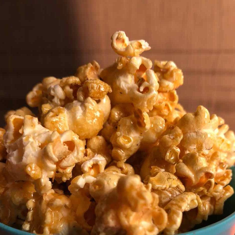 Photo of Homemade Caramel popcorn (healthy recipe) by Rina Khanchandani at BetterButter