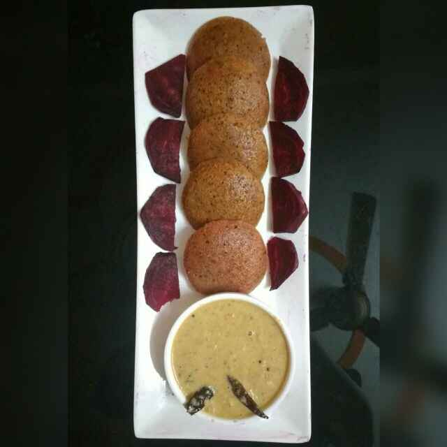 How to make Beetroot Oats Idly