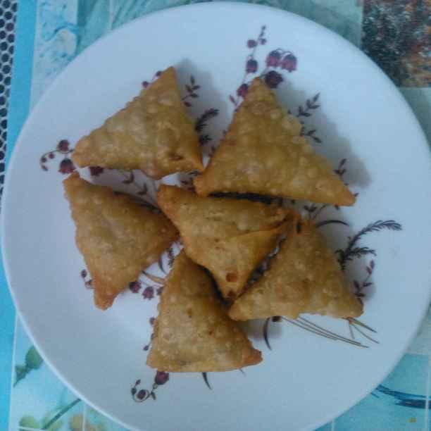 Photo of Palak cheese mini samosa by Rita Patel at BetterButter