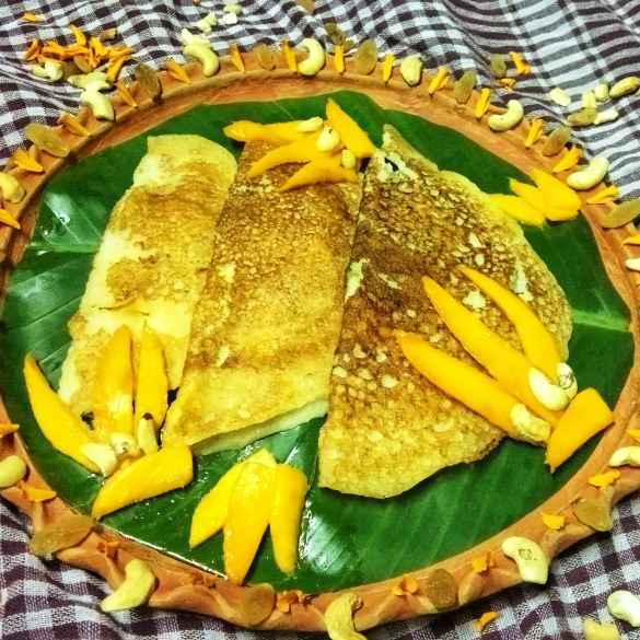 How to make Mango rawa instant dosa