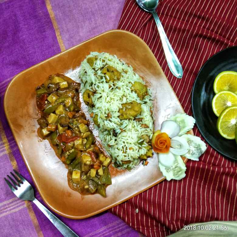 How to make Dal-fitter polaw with Chinese mix veg