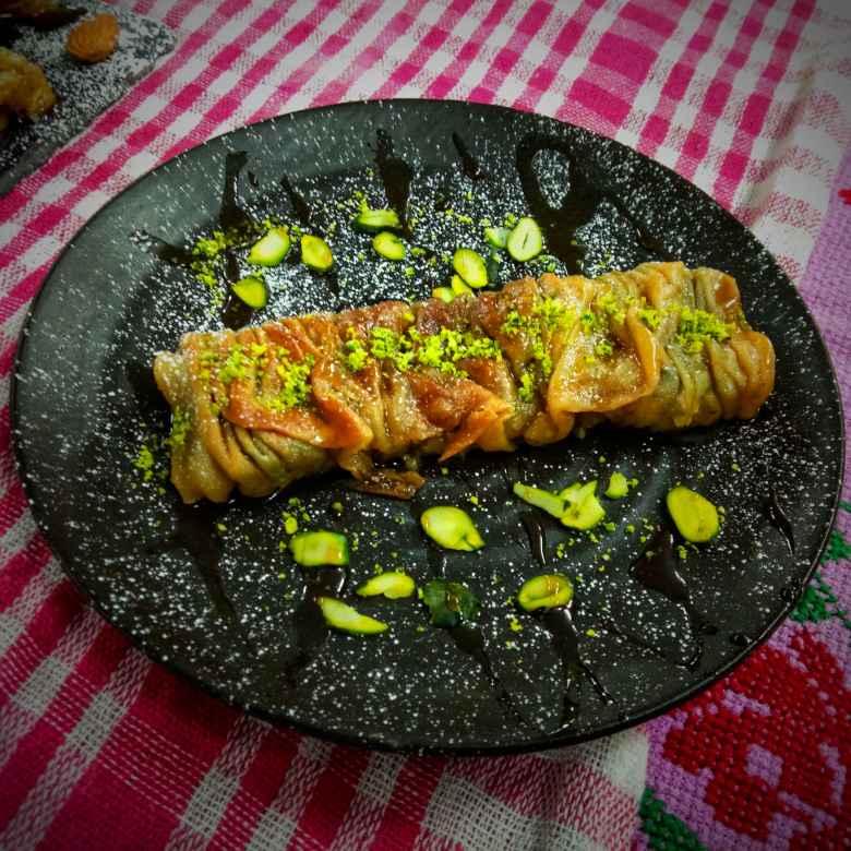 Photo of Baklava Fusion Roll With Nolen Gur by Ritam Guha at BetterButter