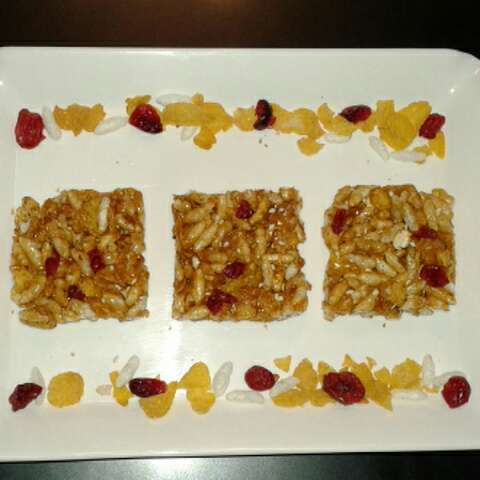 Photo of Cornflakes and cranberries chikki by Rita Arora at BetterButter