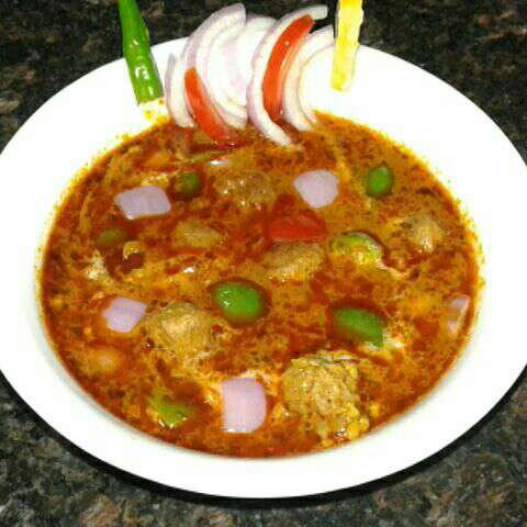 How to make Chilly soya masala