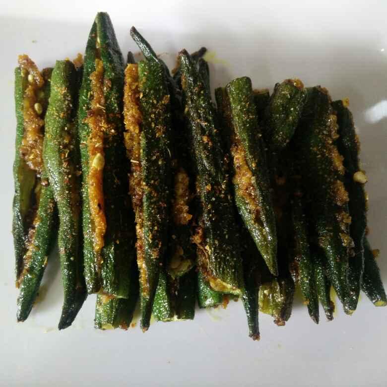 How to make Stuffed Okra (bhindi)