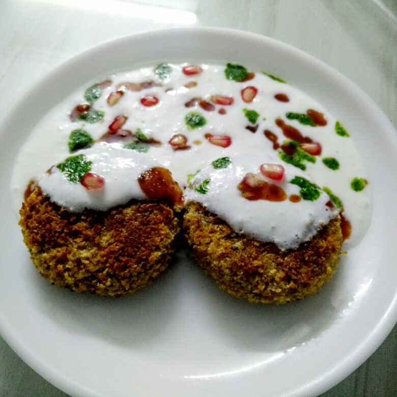 How to make Oats Tikki Chat