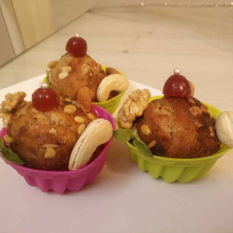 How to make Eggless Dry Fruit Muffins