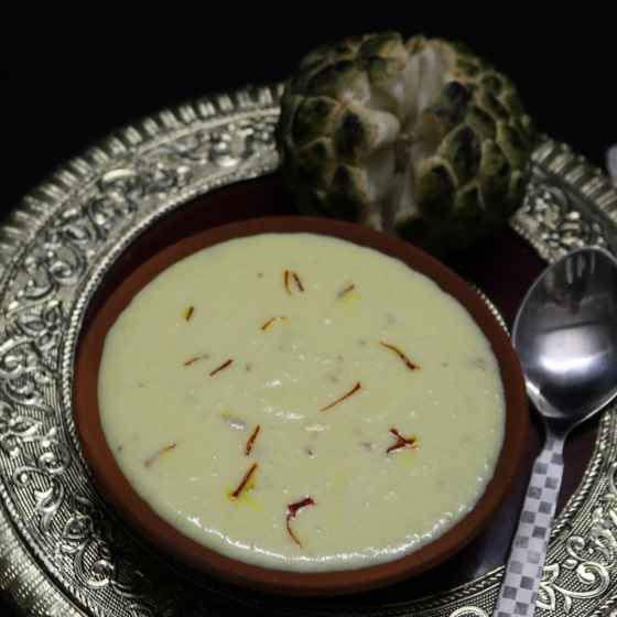 How to make Sitafal basundi