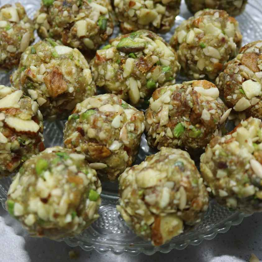 How to make Sugar free Dry fruit laddu