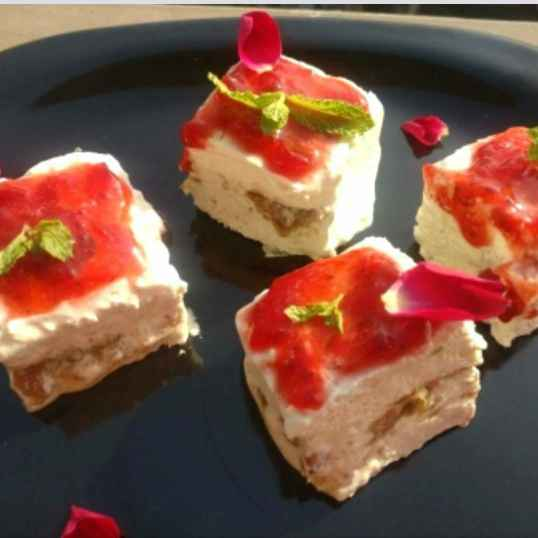 How to make Paan Cheese Cake with Gulkand Jelly