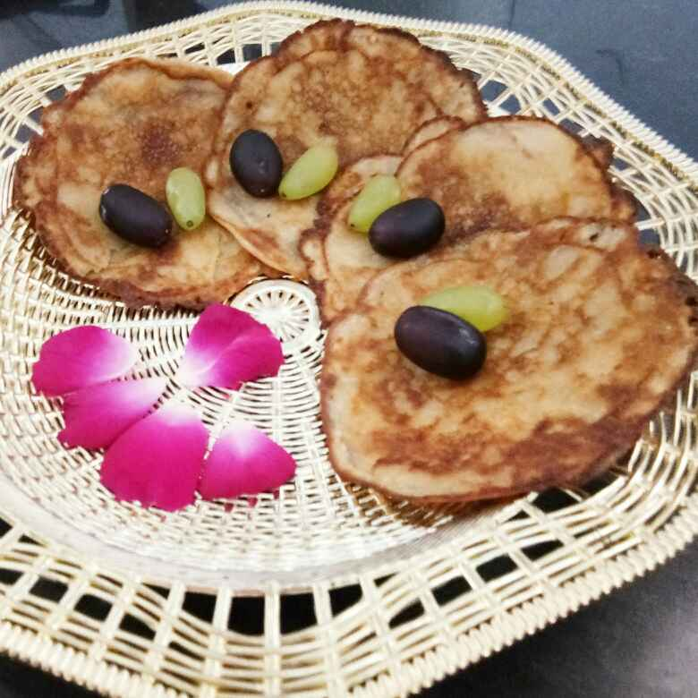 Photo of Aata pankek(wheat pancakes with banana and cardamom mix by Ritu Chaudhary at BetterButter