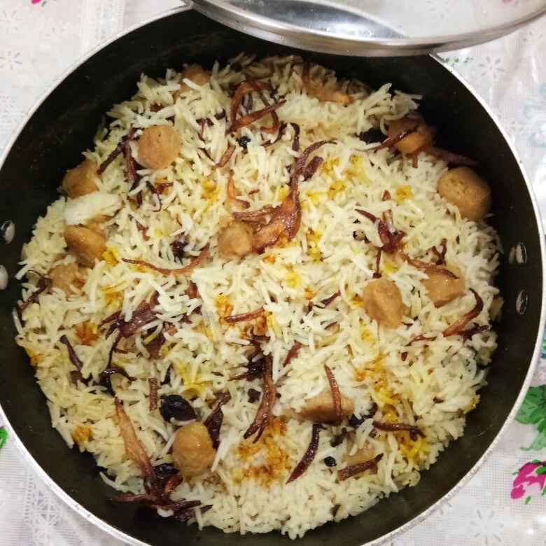 How to make Soya chunk biryani
