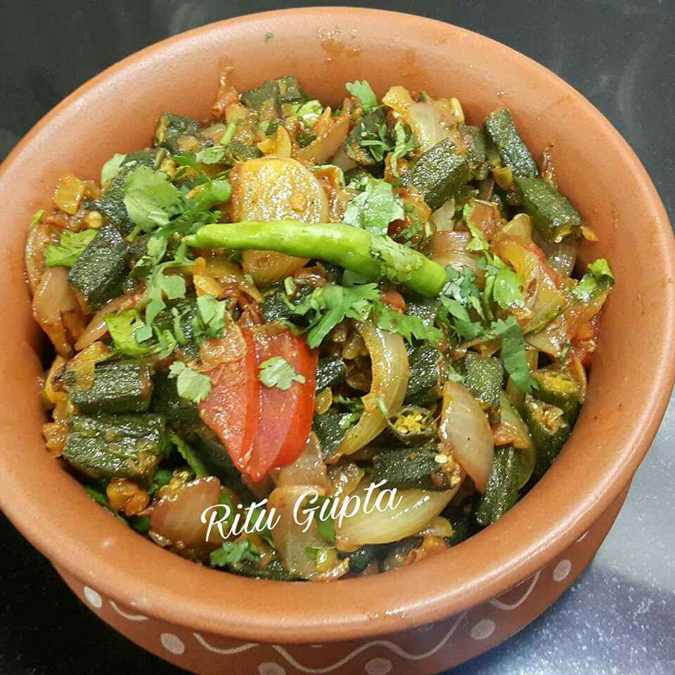Photo of Bhindi do pyaza by Ritu Gupta at BetterButter