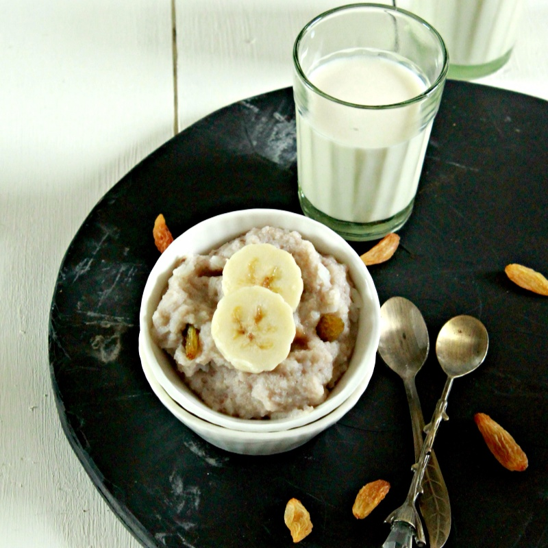 How to make Wholesome Banana Rice Pudding for Babies (6 months+)