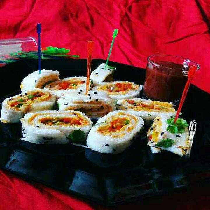 How to make Dhokla Sushi