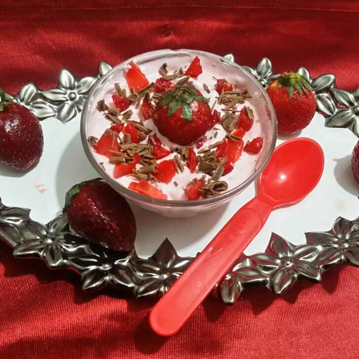 Photo of Strawberry Mousse by Riya Dhiman at BetterButter