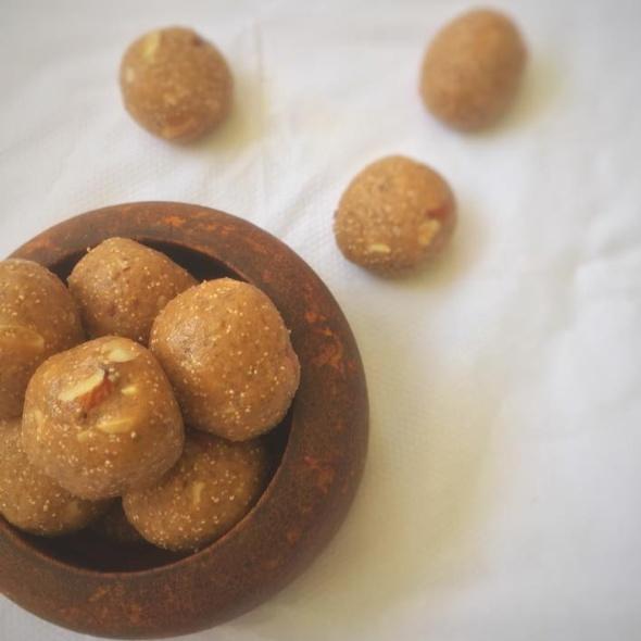 Photo of Aata laddoo or Wheat flour sweet by Riya Rughwani at BetterButter