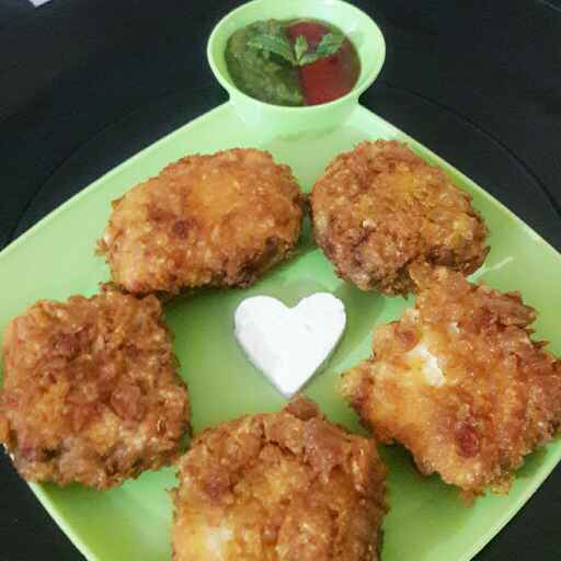 Photo of Paneer cornflakes sandwich by Riya Singh at BetterButter