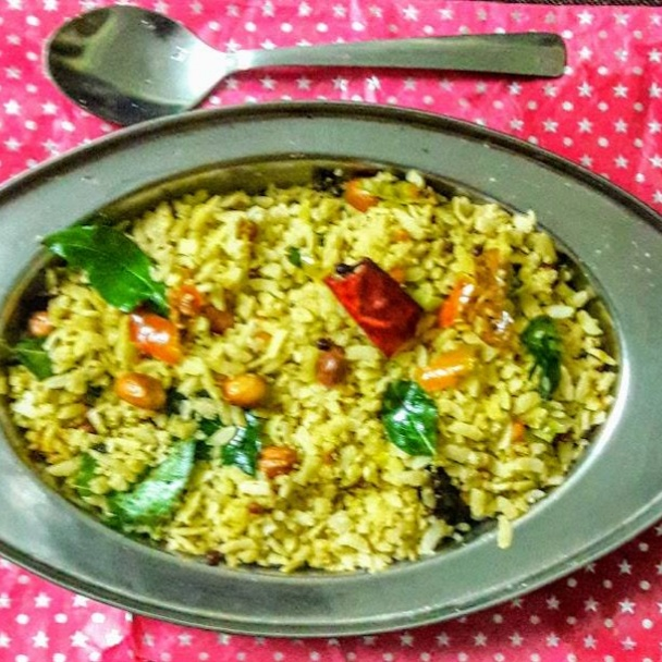 How to make Poha tamarind rice