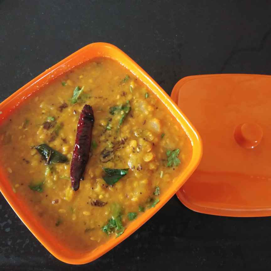 Photo of Yellow cucumber coriander dal curry by Sree Vaishnavi at BetterButter