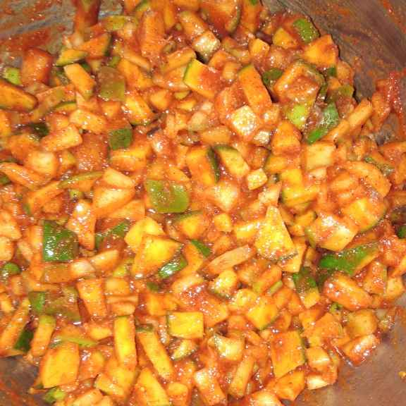 Photo of Mango instant pickle by Sree Vaishnavi at BetterButter