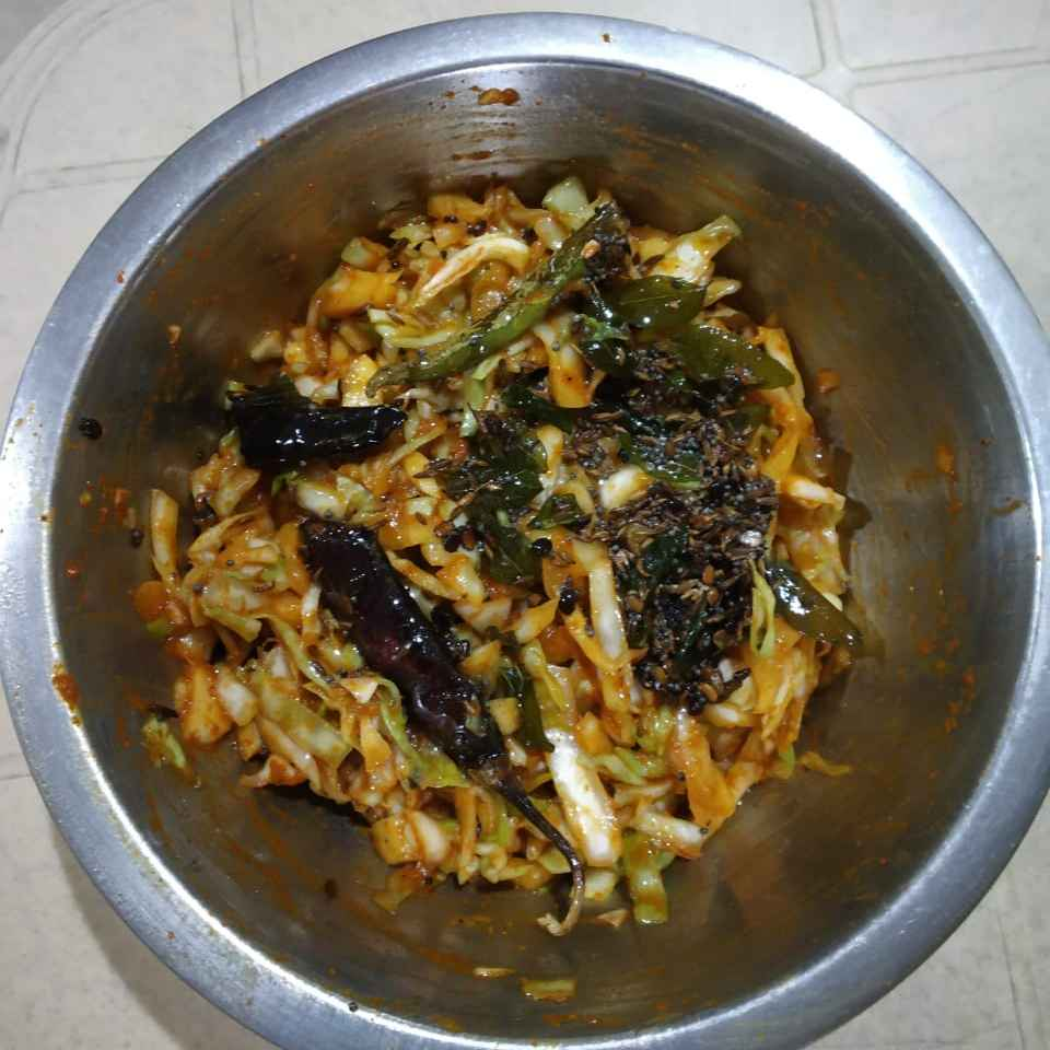 Photo of Cabbage pickle by Sree Vaishnavi at BetterButter