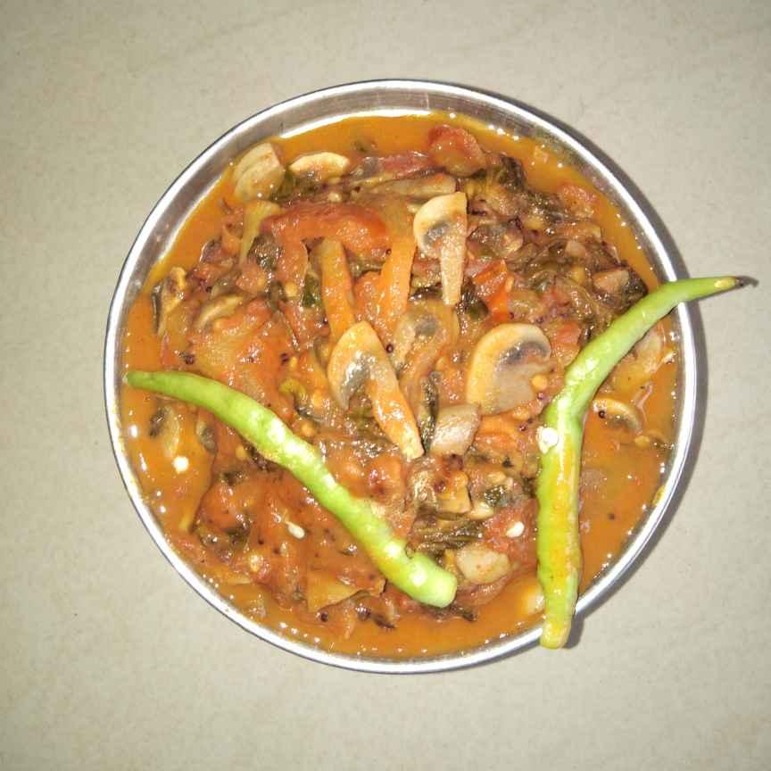 Photo of Methi mushroom curry by Sree Vaishnavi at BetterButter