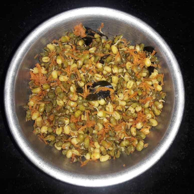 Photo of Sprouts carrot sundal by Sree Vaishnavi at BetterButter