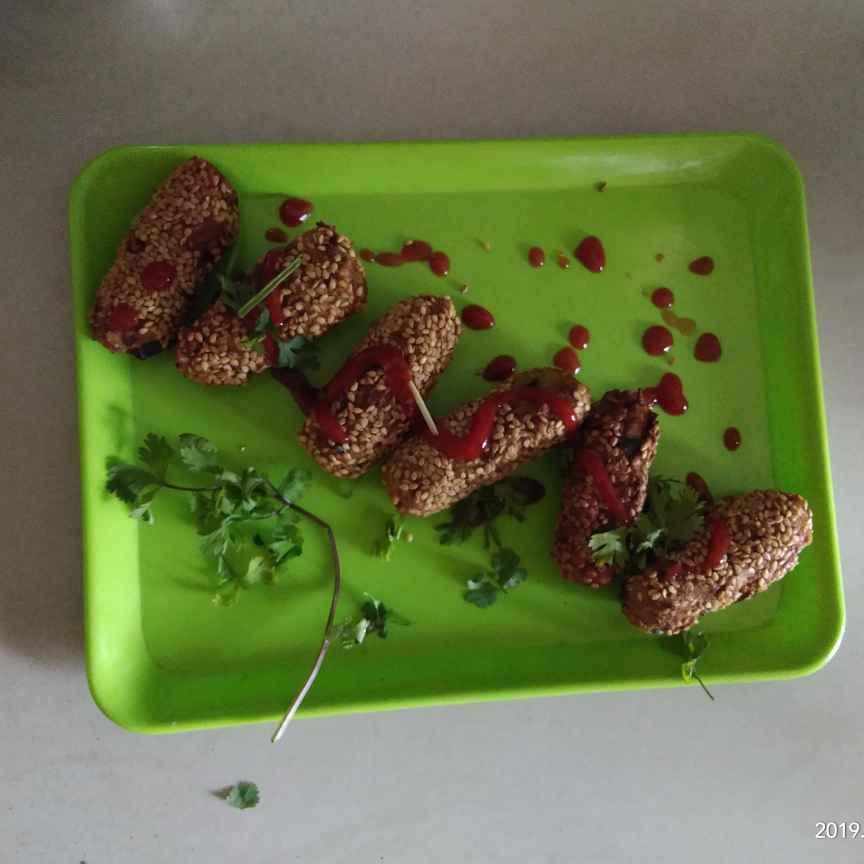 Photo of Sesame bullets by Sree Sadhu at BetterButter