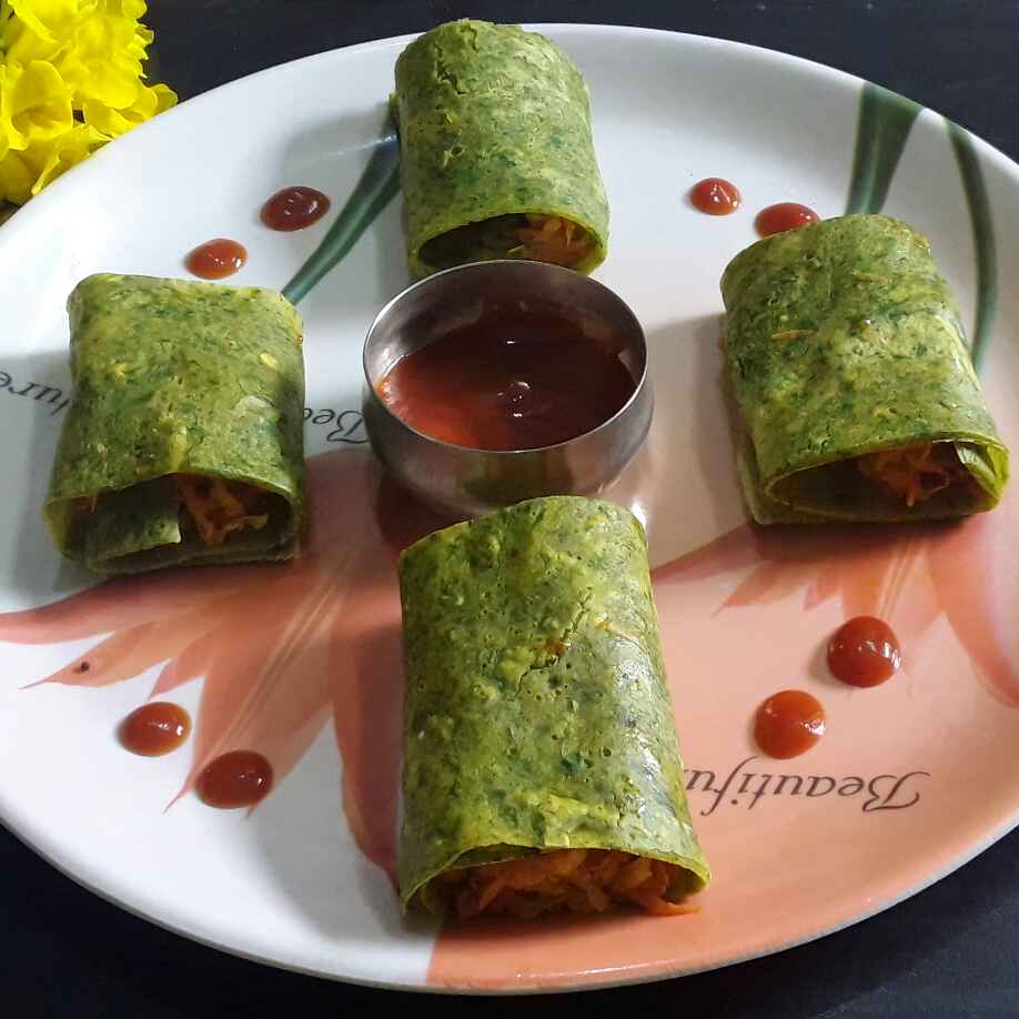 How to make Dhaniya besan chilla roll up