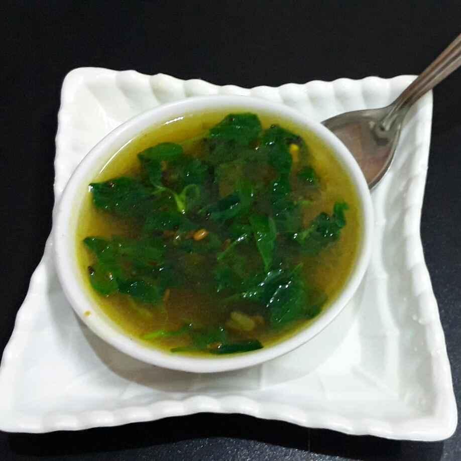 How to make मेथी सूप