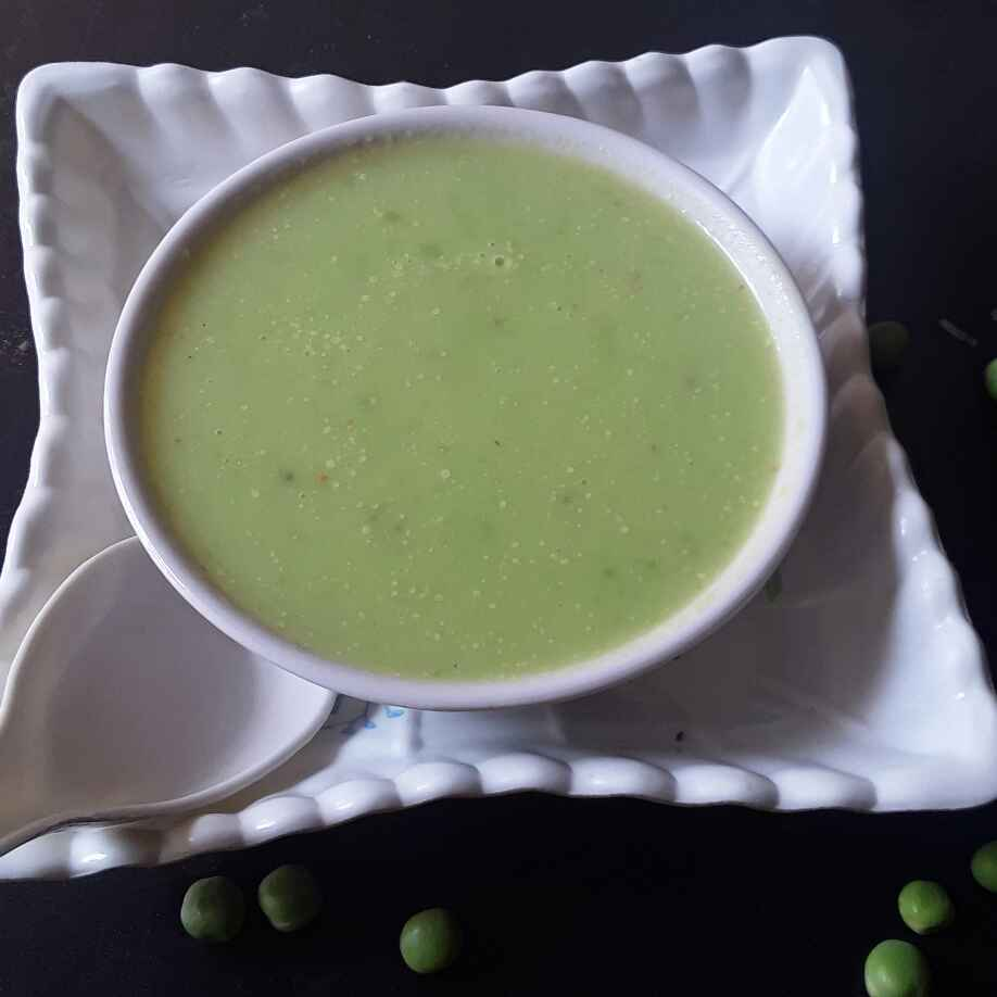 How to make Cream of green peas soup