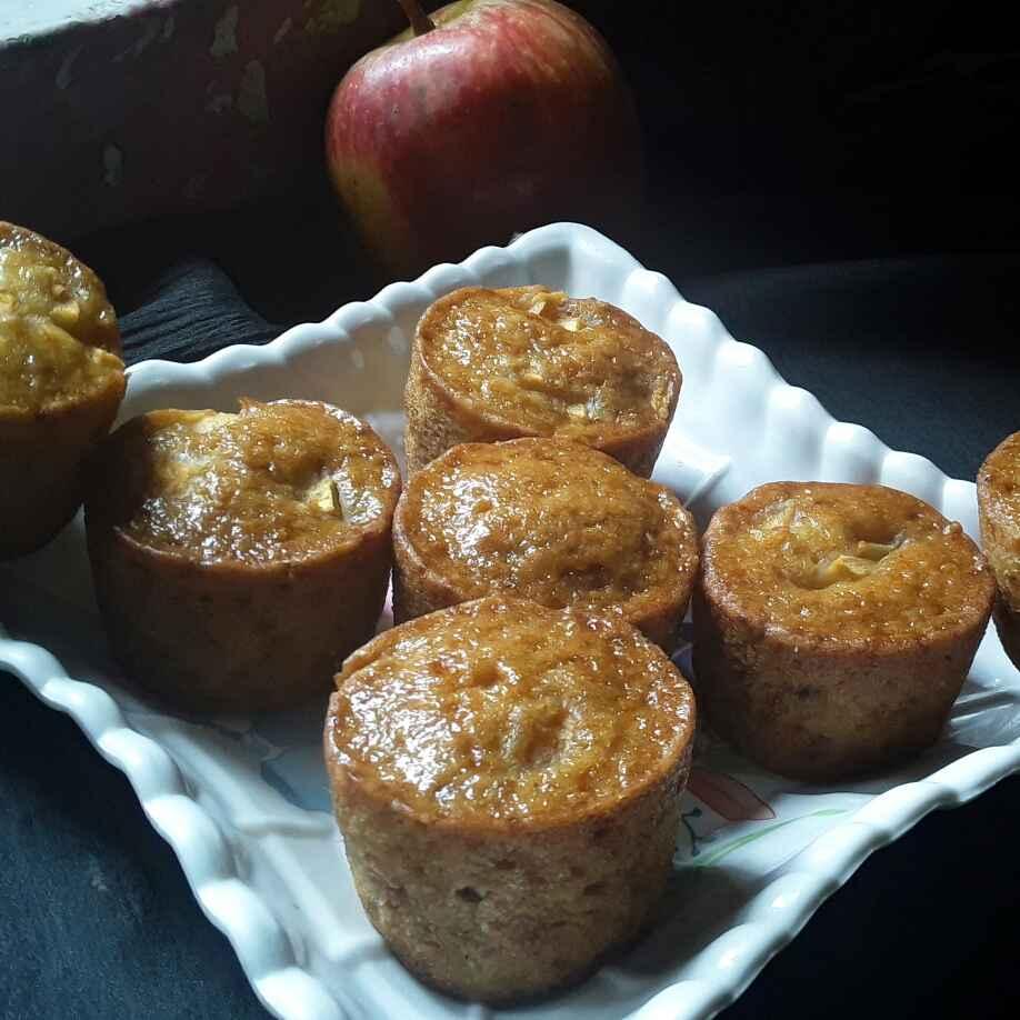 How to make एप्पल कप केक