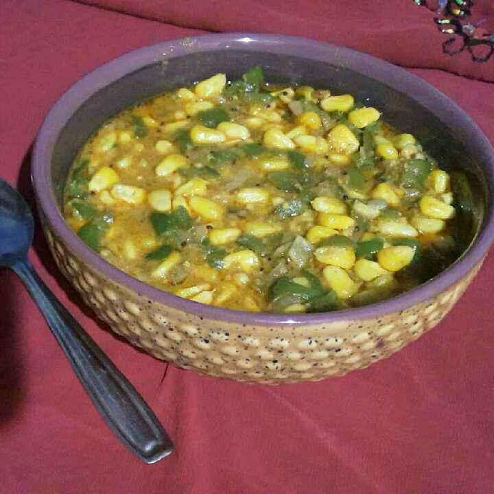 Photo of Corn shimala mirchi curry by Rohini Rathi at BetterButter