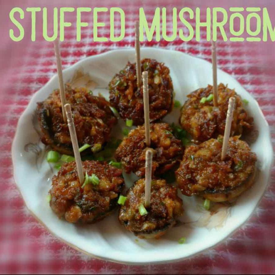 Photo of Stuffed Mushroom by Chinu's Kitchen Corner at BetterButter
