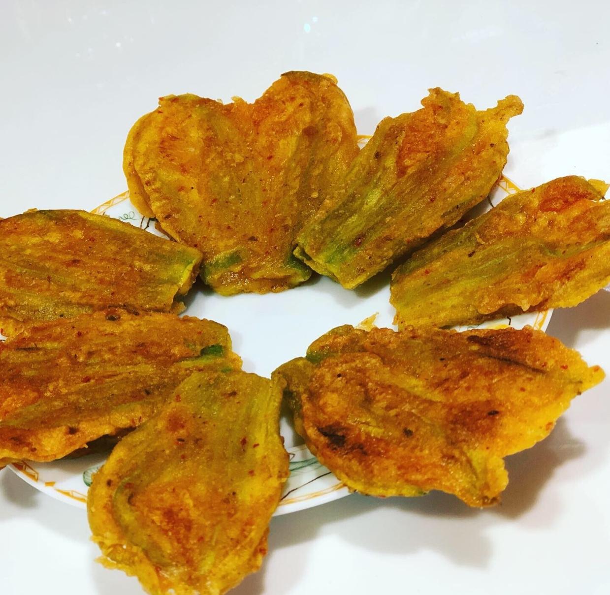 Photo of Pumpkin Blossom Fritters/ Pumkin Flower Bara by Chinu's Kitchen Corner at BetterButter