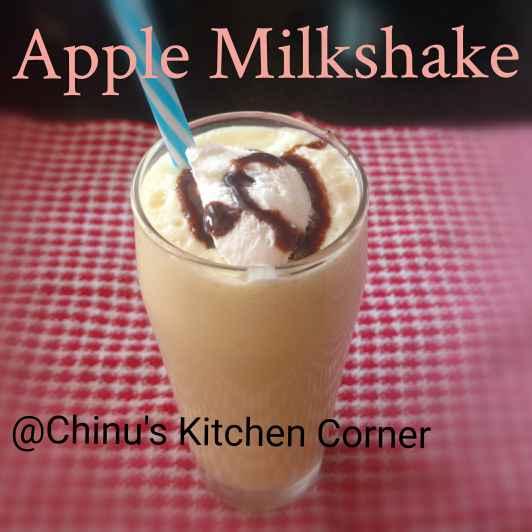 Photo of Apple Milkshake with Ice-Cream by Chinu's Kitchen Corner at BetterButter