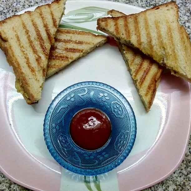How to make Potato grilled sandwich