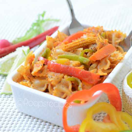 How to make Farfalle Pasta With Spicy Jalfrezi