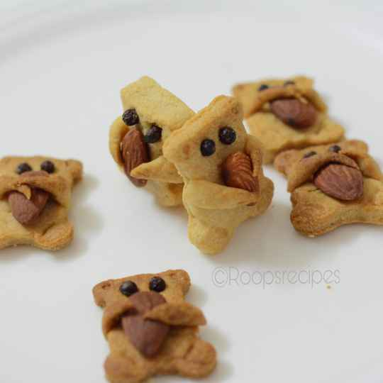 Photo of Teddy bear wheat flour cookies by Roop Parashar at BetterButter