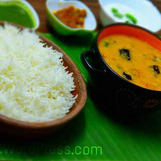 Photo of Daal Chawal/yellow lentil and rice with tangy mango pickle by Roop Parashar at BetterButter